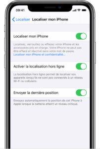 localiser un iphone