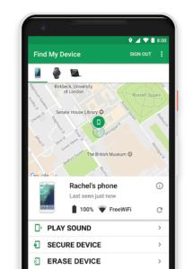 localiser un smartphone android